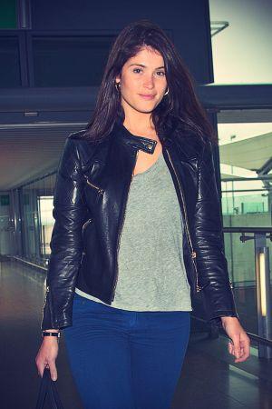 Gemma Arterton departs Heathrow Airport