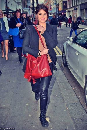 Gemma Arterton Leather Trousers
