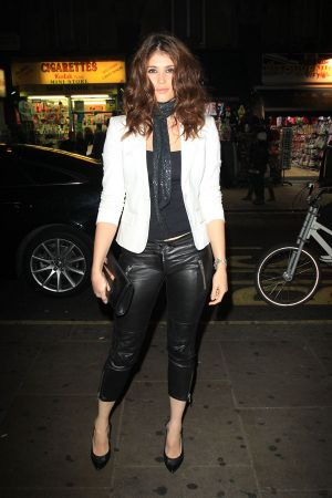 Gemma Arterton outside the Hoping Foundation charity dinner in London