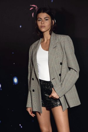 Georgia Fowler attends Zadig & Voltaire show