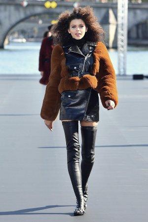 Georgia Fowler walks the runway during Le Defile L'Oreal Paris