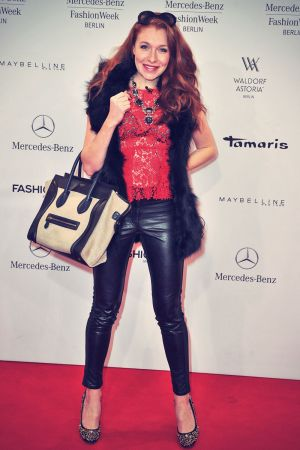 Georgina Fleurs attends Mercedes-Benz Fashion Week