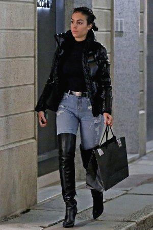 Georgina Rodriguez goes shopping at luxury retailers