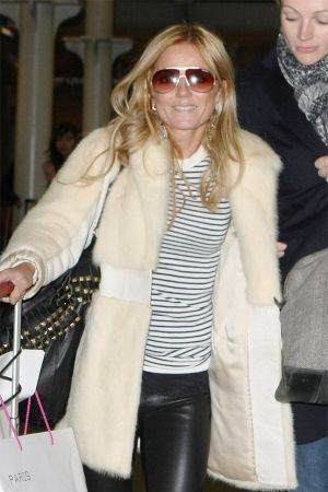 Geri Halliwell arrives at St Pancreas in London