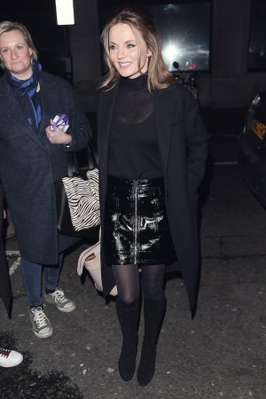 Geri Horner arrives at the Chris Evans Breakfast Show