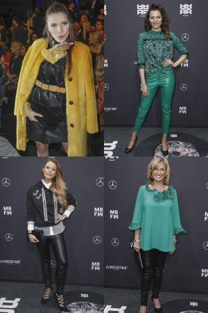 German celebs attend Riani Modenschau Mercedes-Benz Fashion Week