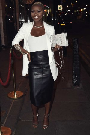 Gifty Louise arrives at the DSTRKT 5th Anniversary Party