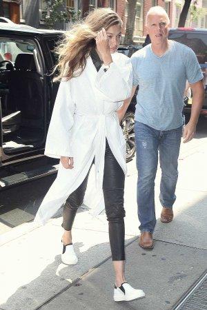 Gigi Hadid arrives at her home