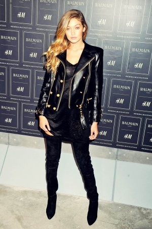 Gigi Hadid attends Balmain x H&M collection launch