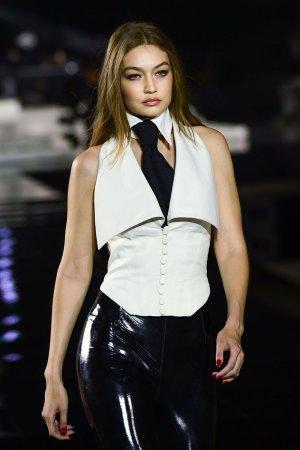 Gigi Hadid attends presentation of French fashion editor Carine Roitfeld's
