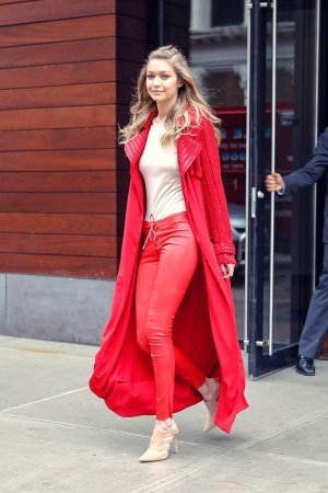 Gigi Hadid heads out during 2016 New York Fashion Week