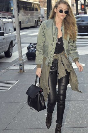 Gigi Hadid is seen in New York City
