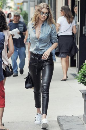 Gigi Hadid is spotted out and about in NYC