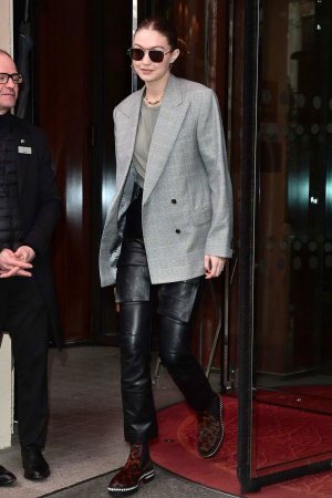 Gigi Hadid leaves Royal Monceau hotel