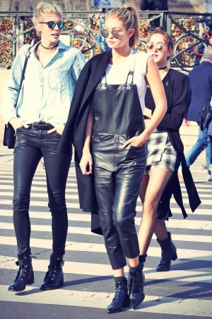 Gigi Hadid out and about candids in Paris