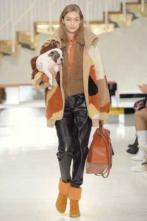 Gigi Hadid walks for Tod's Fall Winter Show