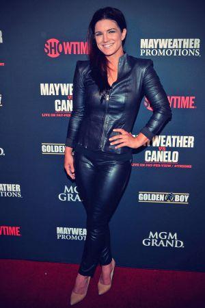 Gina Carano Arrives at a boxing match