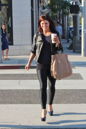 Gina Carano shops and walks in Beverly Hills