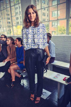 Giorgia Tordini attends the Tanya Taylor fashion show