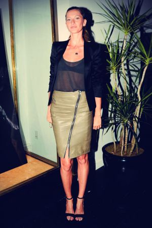 Gisele Bundchen at the Gisele in BLK DNM private viewing