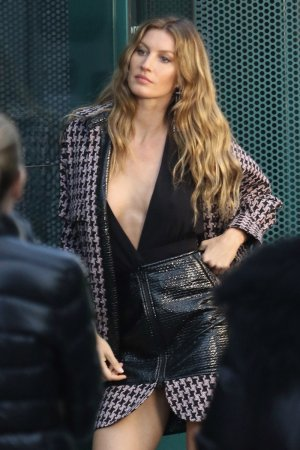 Gisele Bundchen on set of a photoshoot