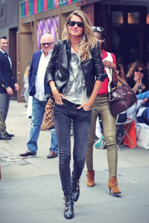 Gisele Bundchen leather style trends