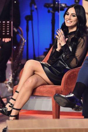 Giulia De Lellis attends Maurizio Costanzo TV show