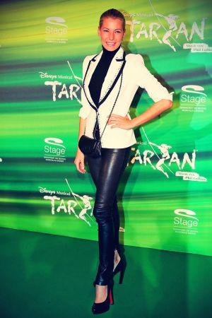 Giulia Siegel attends the musical Tarzan Premiere