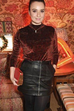 Gizzi Erskine attends as Lulu Guinness & Jasmine Guinness celebrate Christmas