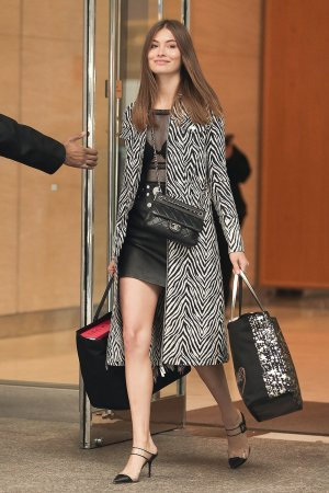 Grace Elizabeth attends Victoria's Secret Fashion Show fittings