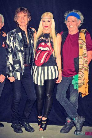 Gwen Stefani attending The Rolling Stones concert