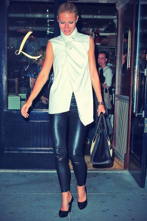 Gwyneth Paltrow steps out of Lafayette Restaurant