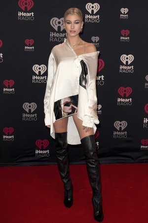 Hailey Baldwin attends iHeartRadio Jingle Ball