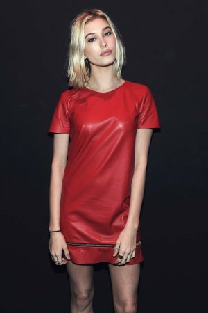Hailey Baldwin attends the Brian Lichtenberg fashion show
