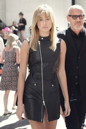 Hailey Baldwin attends the Diesel Black Gold show