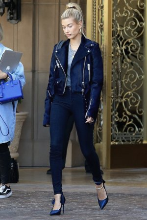 Hailey Baldwin checks out of the Montage Hotel