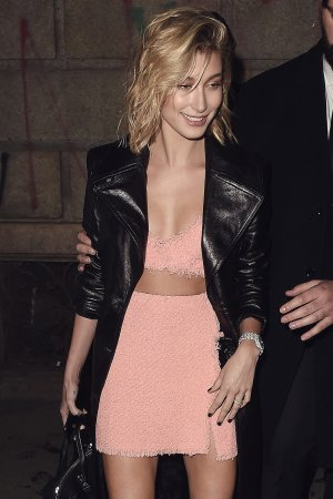 Hailey Baldwin leaving the ADR party