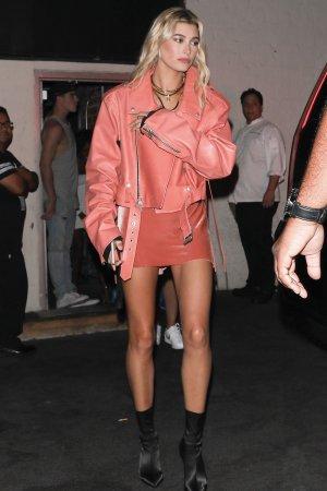Hailey Baldwin seen leaving Delilah's night club
