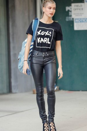 Hailey Baldwin seen out in New York City