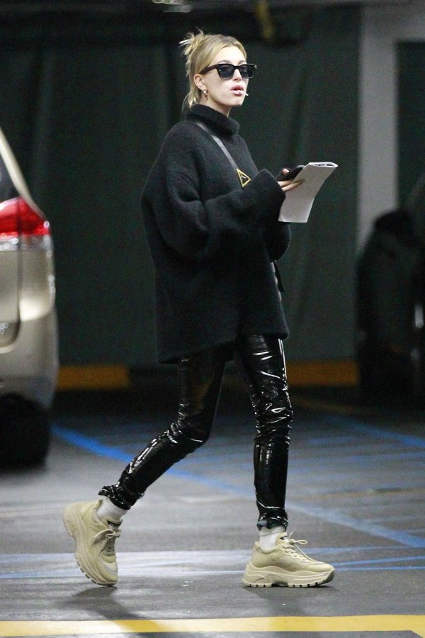 Hailey Bieber out in LA