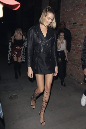 Hailey Clauson and Kara Del Toro arrive at TAO steakhouse