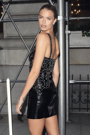 Hailey Clauson attends Harpers Bazaar celebrates 'ICONS By Carine Roitfeld'