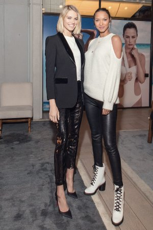 Hailey Clauson attends Solid and Striped Swim Team Launch