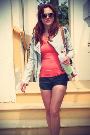 Haley Strode photoshoot during a fitting in Beverly Hills
