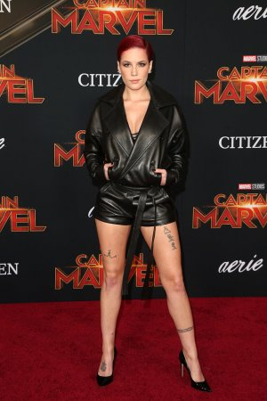 Halsey attends The World Premiere of Marvel Studios Captain Marvel