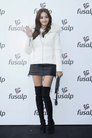 Han Chae-Young attends the photocall for 'Fusalp'