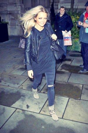 Hannah Spearritt was spotted in London