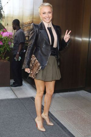 Hayden Panettiere leaving her hotel