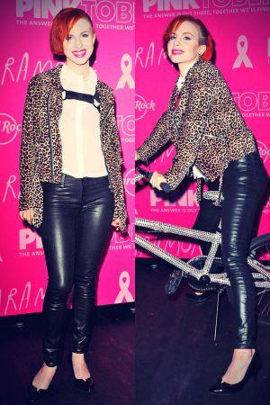 Hayley Williams attends Hard Rock Cafe's PINKTOBER program launch