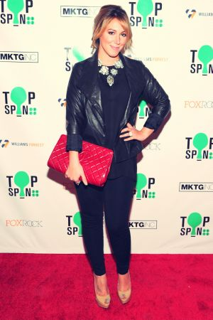 Haylie Duff attends the TopSpin 2012 charity event